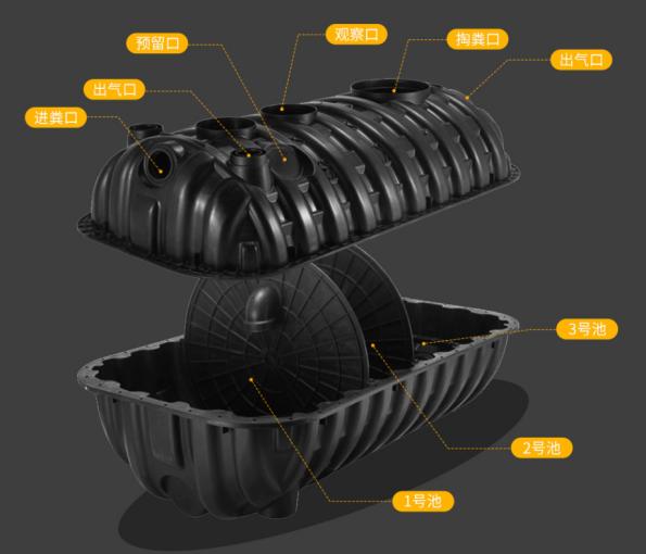 廣西三格式塑料化糞池廠家,揭秘新農村改廁化糞池