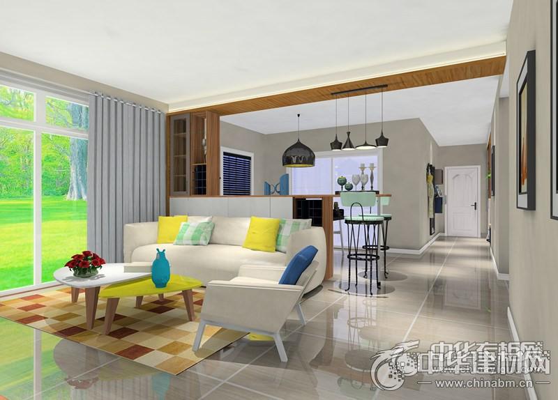 三房兩廳的全屋定制 自然木紋移門衣柜清新舒適