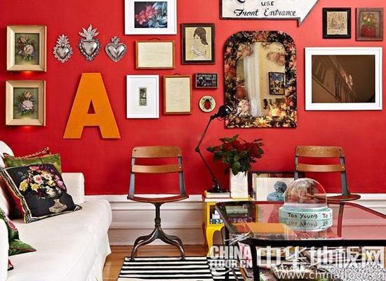 紅紅火火過元宵 六款紅色客廳木地板家裝案例(圖)