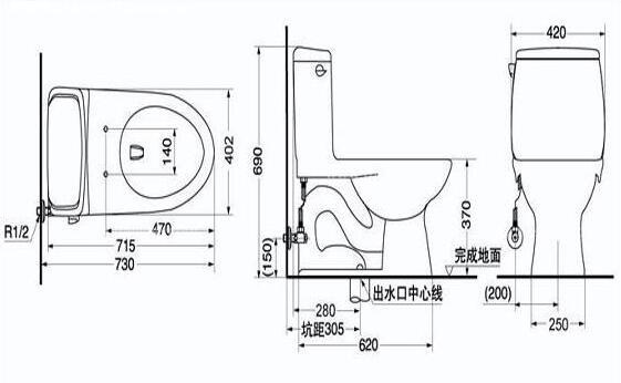 抽水马桶结构图及工作原理介绍
